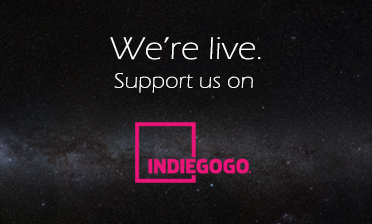 We're live on indiegogo banner